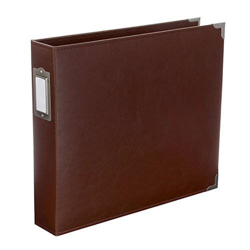 Becky Higgins - Project Life - Classic Leather - 12 x 12 - Three Ring Album - Cinnamon