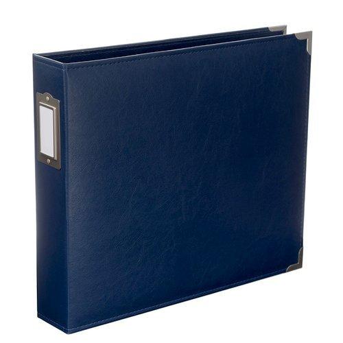 Becky Higgins - Project Life - Faux Leather - 12 x 12 - D-Ring Album - Cobalt