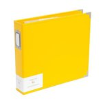Becky Higgins - Project Life - Classic Leather - 12 x 12 - Three Ring Album - Sunflower