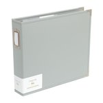 Becky Higgins - Project Life - Classic Leather - 12 x 12 - Three Ring Album - Grey