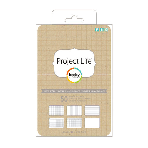Becky Higgins - Project Life - 4 x 6 - Kraft Cards