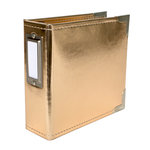 Becky Higgins - Project Life - Classic Leather - 4 x 4 - Two Ring Album - Gold