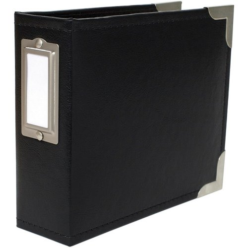 Becky Higgins - Project Life - Classic Leather - 4 x 4 - Two Ring Album - Black