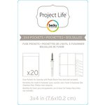 Becky Higgins - Project Life - Photo Sleeve Fuse - Pockets - 3 x 4