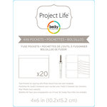Becky Higgins - Project Life - Photo Sleeve Fuse - Pockets - 4 x 6