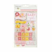 Becky Higgins - Project Life - Baby Girl Edition Collection - Chipboard Stickers