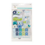 Becky Higgins - Project Life - Baby Boy Edition Collection - Chipboard Stickers