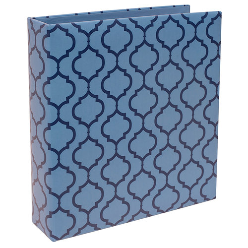 Becky Higgins - Project Life - 6 x 8 D-Ring Album - Blue Lattice