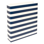 Becky Higgins - Project Life - 6 x 8 D-Ring Album - Navy Stripe