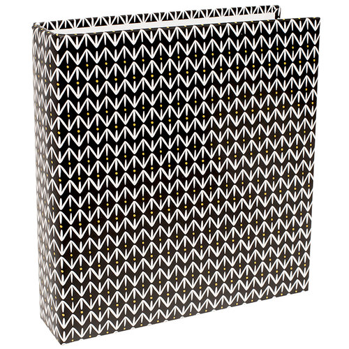 Becky Higgins - Project Life - 6 x 8 D-Ring Album - Black Pattern