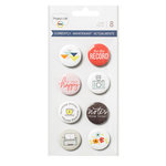 Becky Higgins - Project Life - Currently Edition Collection - Flair Badges