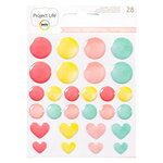 Becky Higgins - Project Life - Inspire Edition Collection - Instax Mini - Enamel Stickers - Watercolor