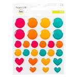 Becky Higgins - Project Life - Kiwi Edition Collection - Instax Mini - Enamel Stickers