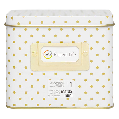 Becky Higgins - Project Life - Instax - Tin Storage - Polka Dot
