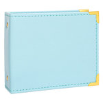 Becky Higgins - Project Life - Instax - Album - 4.5 x 5 D-Ring - Faux Leather - Baby Blue