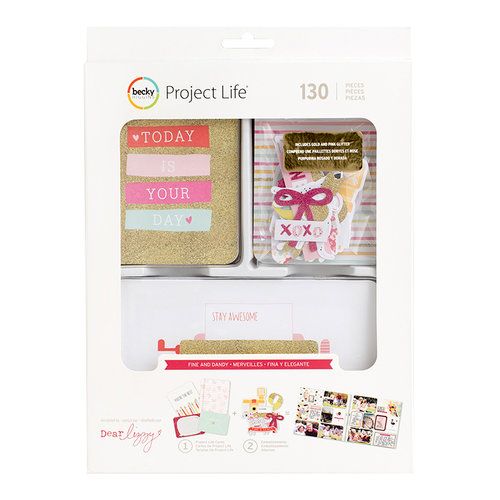 Becky Higgins - Project Life - Fine and Dandy Collection - Value Kit with Glitter Accents