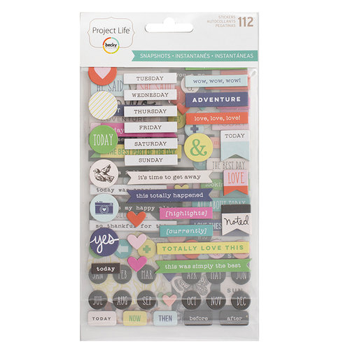 Becky Higgins - Project Life - Snapshots Edition Collection - Chipboard Stickers