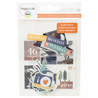 Becky Higgins - Project Life - Daring Collection - Project 52 - Ephemera with Foil Accents