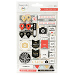 Becky Higgins - Project Life - Click Edition Collection - Chipboard Stickers with Foil Accents