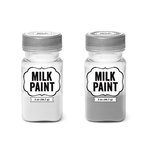 Imaginisce - Milk Paint - 2 Pack - White and Gray