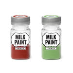 Imaginisce - Milk Paint - 2 Pack - Red and Green