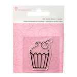 Imaginisce - Little Princess Collection - Snag 'em Acrylic Stamps - Cupcake