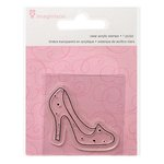Imaginisce - Little Princess Collection - Snag 'em Acrylic Stamps - Slipper