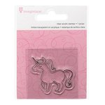 Imaginisce - Little Princess Collection - Snag 'em Acrylic Stamps - Unicorn
