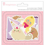 Imaginisce - Little Princess Collection - Die Cut Cardstock Pieces - Shapes - Two