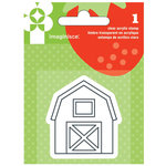 Imaginisce - Heartland Farm Collection - Snag 'em Acrylic Stamps - Barn