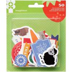 Imaginisce - Heartland Farm Collection - Die Cut Cardstock Pieces - Shapes
