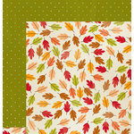 Imaginisce - Give Thanks Collection - 12 x 12 Double Sided Paper - Crisp Breeze
