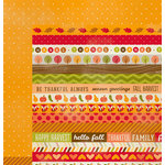 Imaginisce - Give Thanks Collection - 12 x 12 Double Sided Paper - Autumn Love