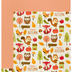 Imaginisce - Give Thanks Collection - 12 x 12 Double Sided Paper - Woodland
