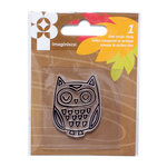 Imaginisce - Give Thanks Collection - Snag 'em Acrylic Stamps - Owl