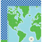Imaginisce - Happy Traveler Collection - 12 x 12 Double Sided Paper - Wander