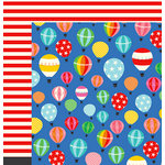 Imaginisce - Happy Traveler Collection - 12 x 12 Double Sided Paper - Discover
