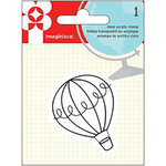 Imaginisce - Happy Traveler Collection - Snag 'em Acrylic Stamps - Balloon