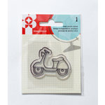 Imaginisce - Happy Traveler Collection - Snag 'em Acrylic Stamps - Scooter