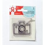 Imaginisce - Happy Traveler Collection - Snag 'em Acrylic Stamps - Camera