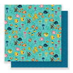 Imaginisce - Par-r-rty Me Hearty Collection - 12 x 12 Double Sided Paper - Under The Sea