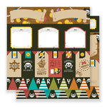 Imaginisce - Par-r-rty Me Hearty Collection - 12 x 12 Double Sided Paper - Par-r-rty