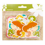 Imaginisce - Par-r-rty Me Hearty Collection - Ephemera - Mermaid