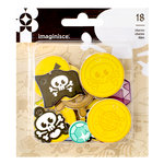 Imaginisce - Par-r-rty Me Hearty Collection - Foam Charms - Pirate