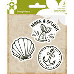 Imaginisce - Par-r-rty Me Hearty Collection - Snag 'em Acrylic Stamps - Mermaid