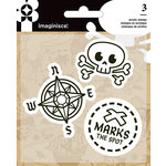 Imaginisce - Par-r-rty Me Hearty Collection - Snag 'em Acrylic Stamps - Pirate