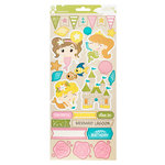 Imaginisce - Par-r-rty Me Hearty Collection - Cardstock Stickers - Accents - Mermaid
