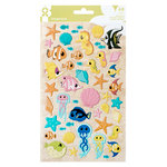 Imaginisce - Par-r-rty Me Hearty Collection - Puffy Stickers - Mermaid