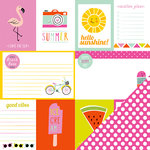 Imaginisce - Sunny Collection - 12 x 12 Double Sided Paper - Good Vibes