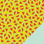 Imaginisce - Sunny Collection - 12 x 12 Double Sided Paper - Sweet Melon